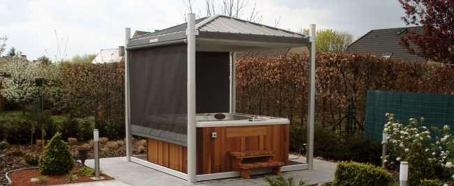 Private Hot Tub Gazebo Ideas 7