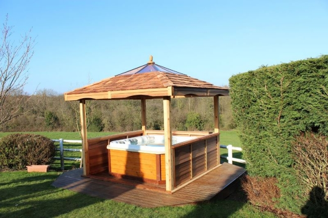 Private Hot Tub Gazebo Ideas 8