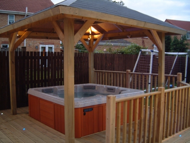 Private Hot Tub Gazebo Ideas 9