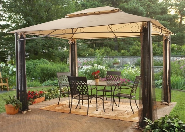 Stunning Gazebo Canopy Black Mosquito Netting Steel Frame With Steel Gazebo For Deck Steel Gazebo For Deck 1