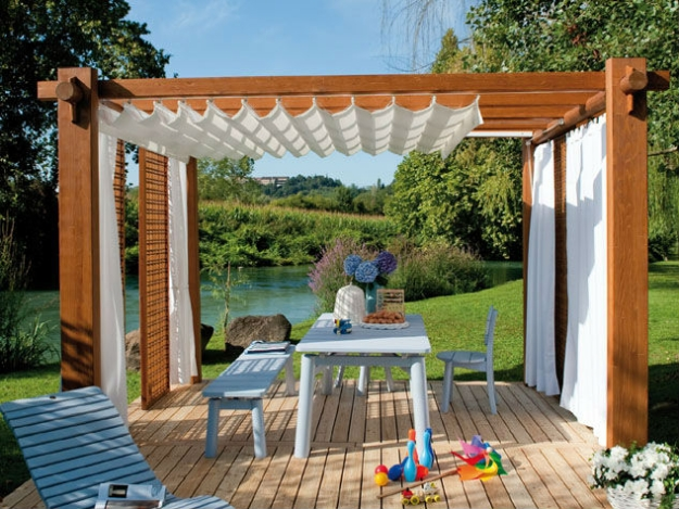 Patio deck pergola ideas pergola gazebos for Piani di garage free standing