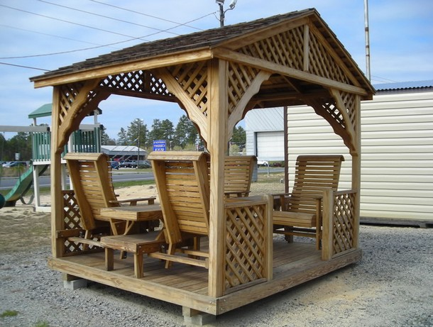 Unique Deck Gazebo 10