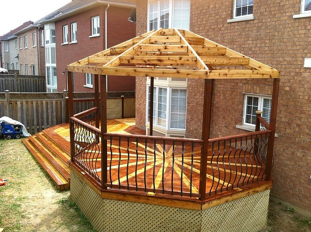 Unique Deck Gazebo 4