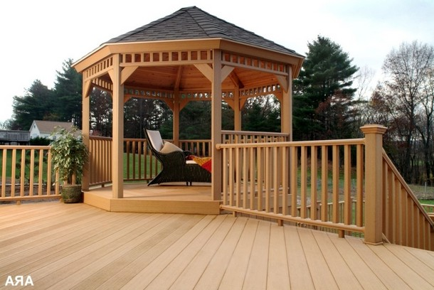 Unique Deck Gazebo 5