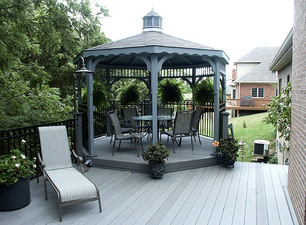 Unique Deck Gazebo 9