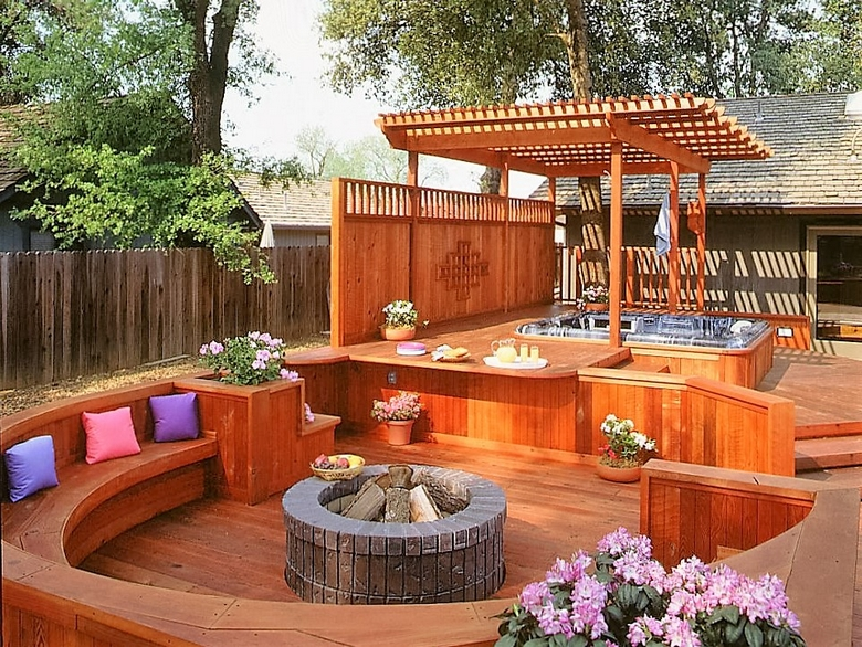 Hot Tub Pergola Decks 1