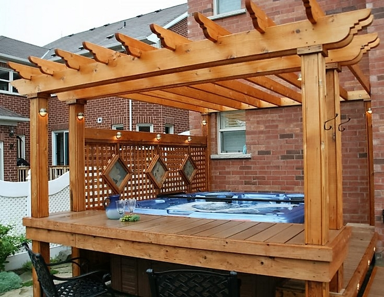 Hot Tub Pergola Decks 2