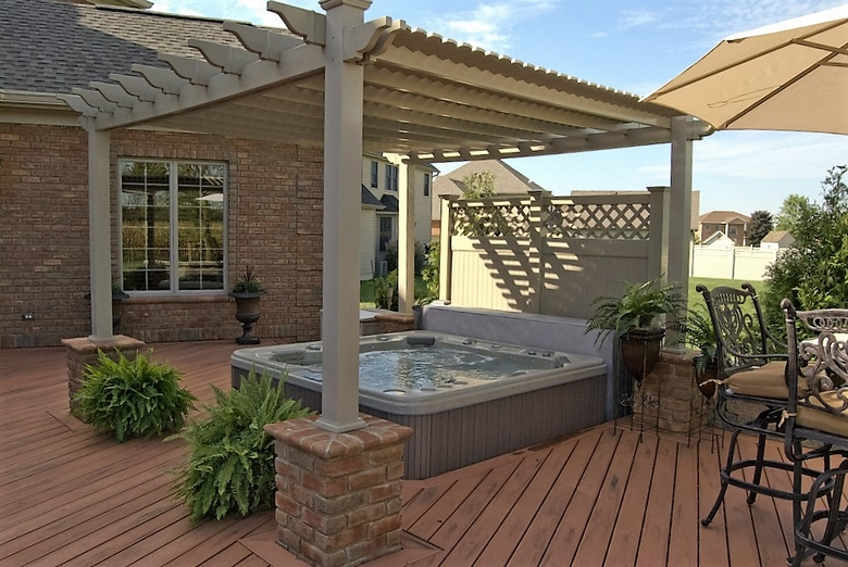 Hot Tub Pergola Decks 3