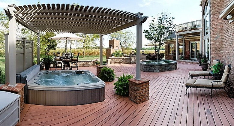 Hot Tub Pergola Decks 5
