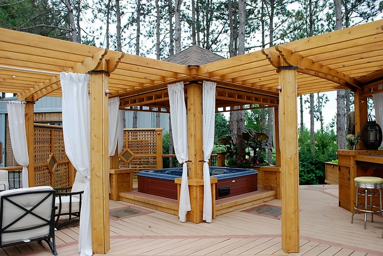 Hot Tub Pergola Decks 6