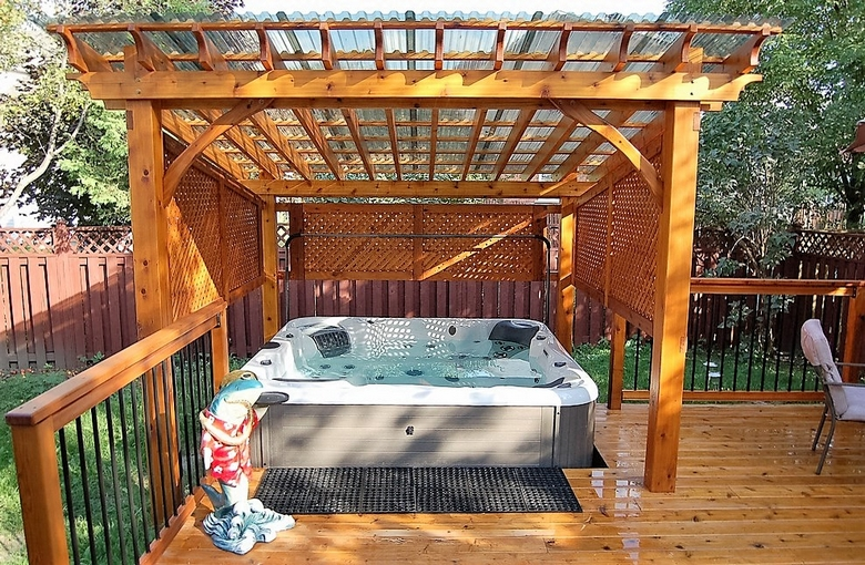 Hot Tub Pergola Decks