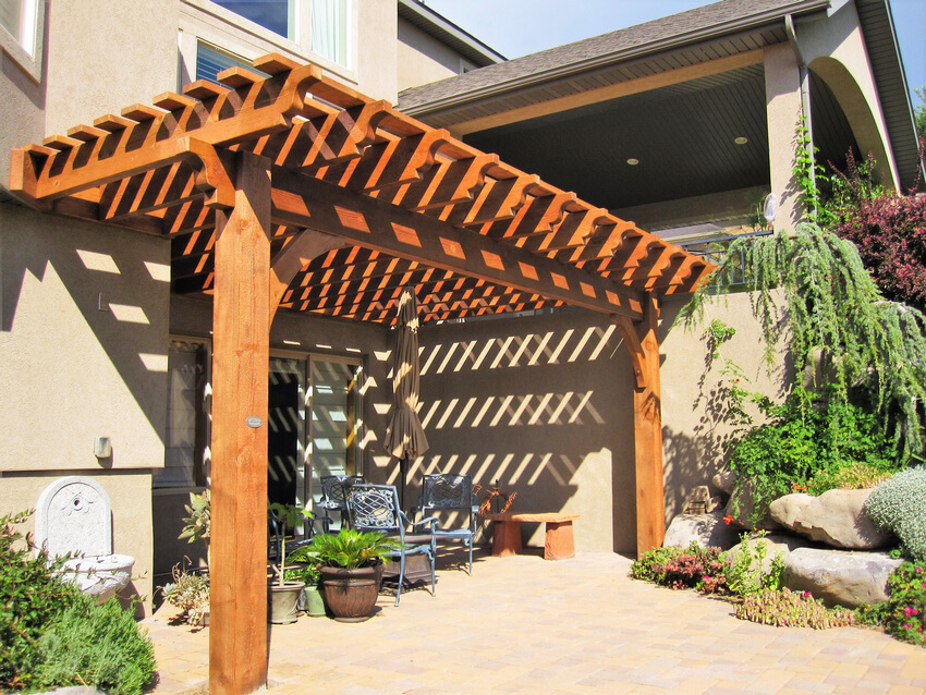 Attached Pergola Designs 1