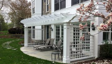 Shaded Attached Pergola Design Plans for Your Home