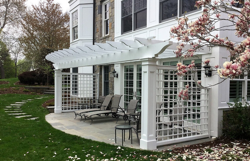 Attached Pergola Designs 11