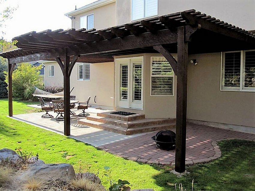 Attached Pergola Designs 15