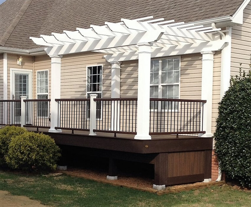 Attached Pergola Designs 16