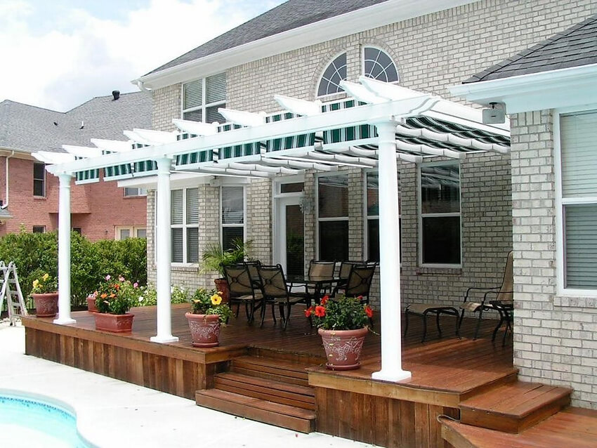 Attached Pergola Designs 18