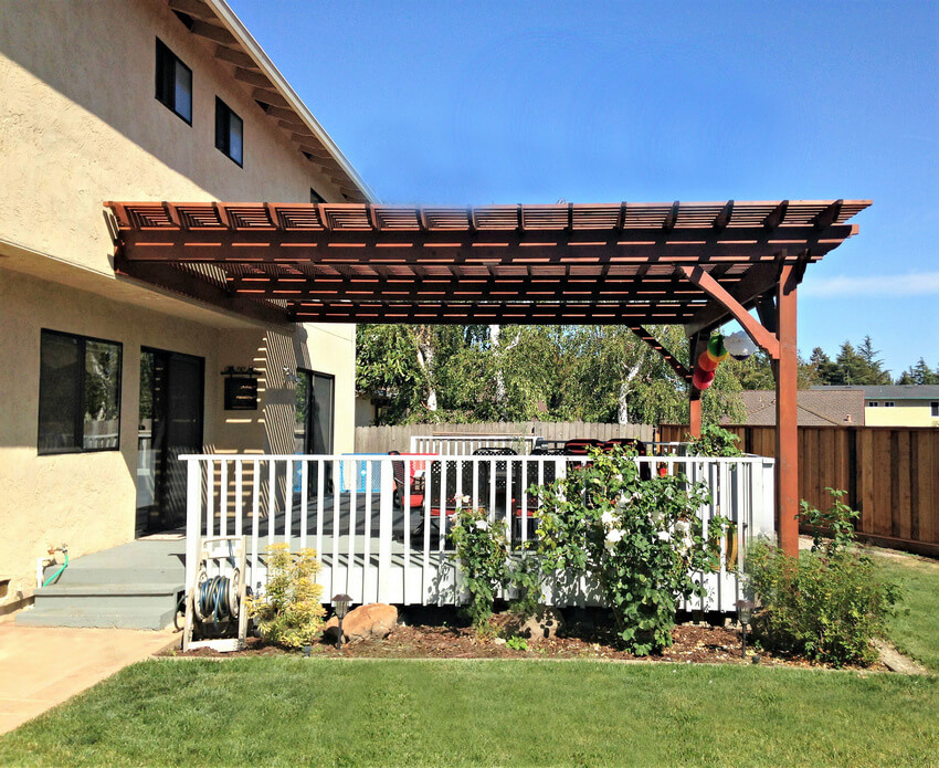 Attached Pergola Designs 2