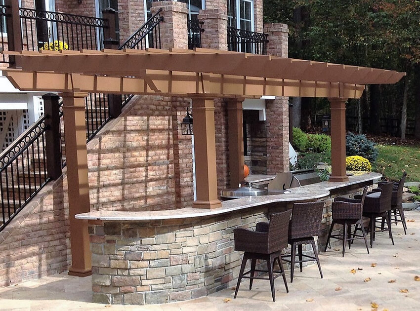 Attached Pergola Designs 20