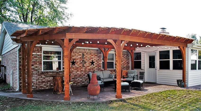 Attached Pergola Designs 22