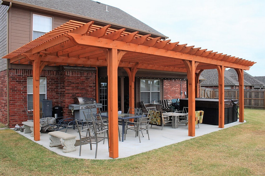 Attached Pergola Designs 23