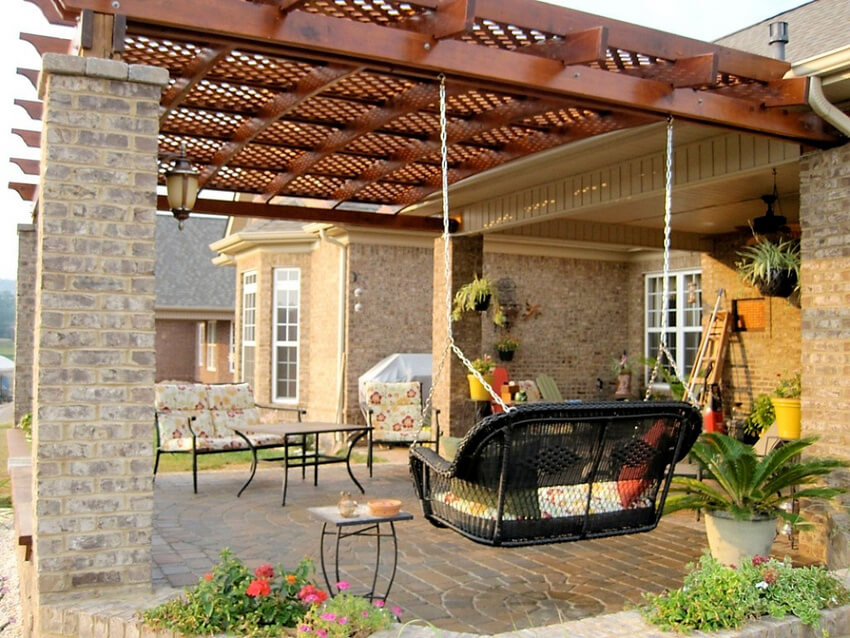 Attached Pergola Designs 3