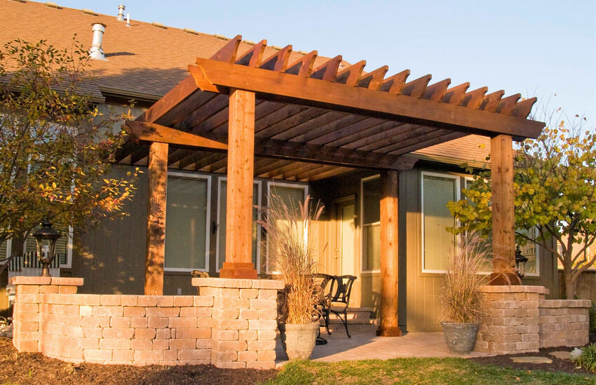 Attached Pergola Designs 7