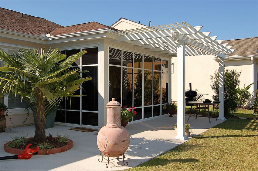 Attached Pergola Designs 8