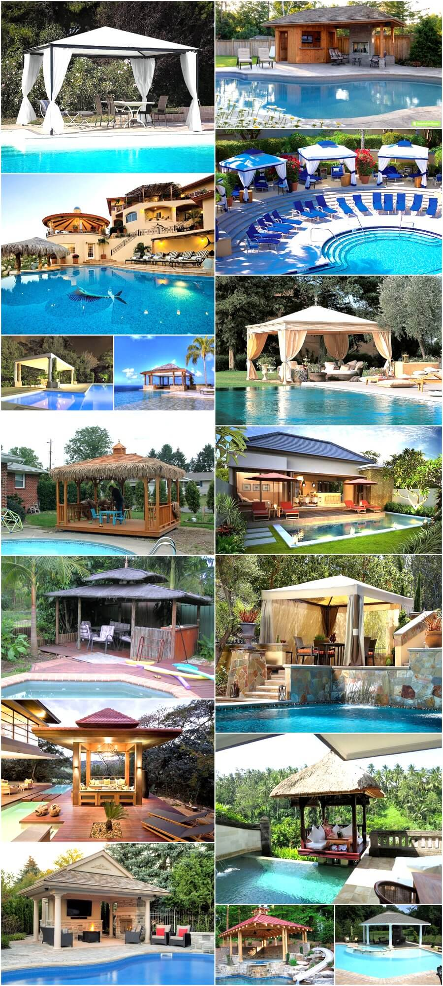Beautiful Gazebo Designs for Your Swimming Pool