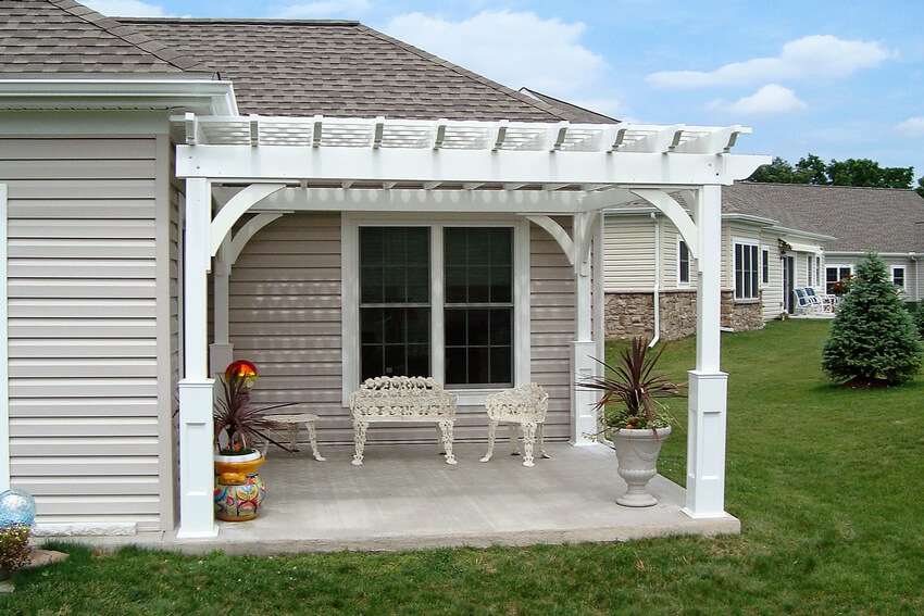 Elegant Attached Pergola