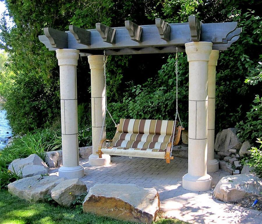 Garden Swing Pergola Idea