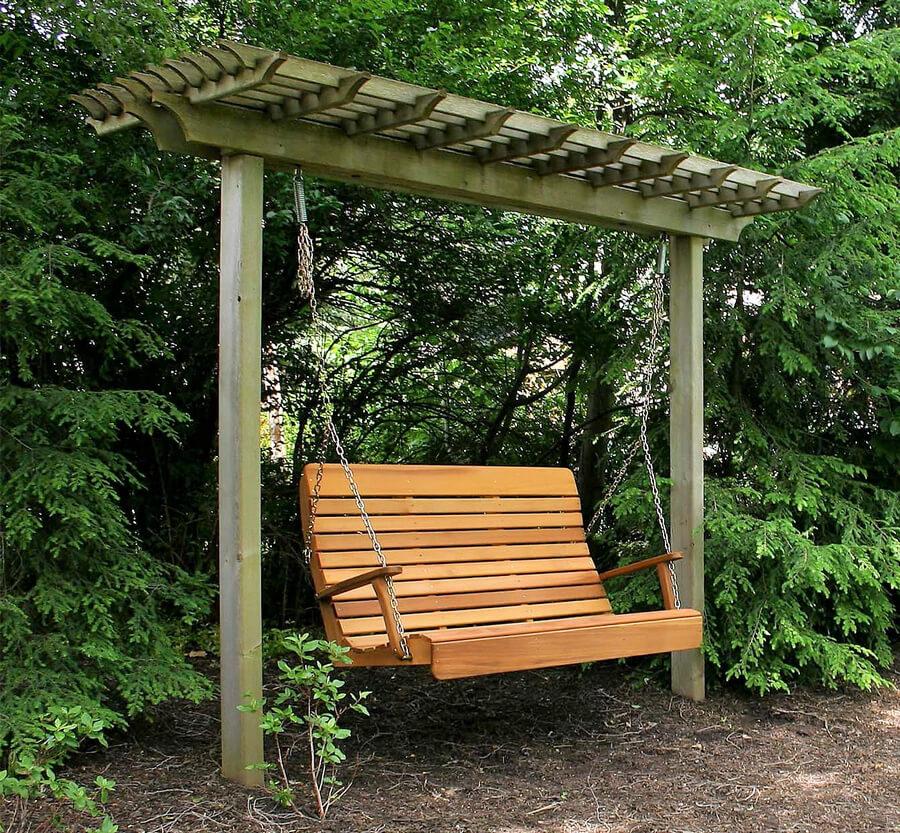 Outdoor Swing Pergola