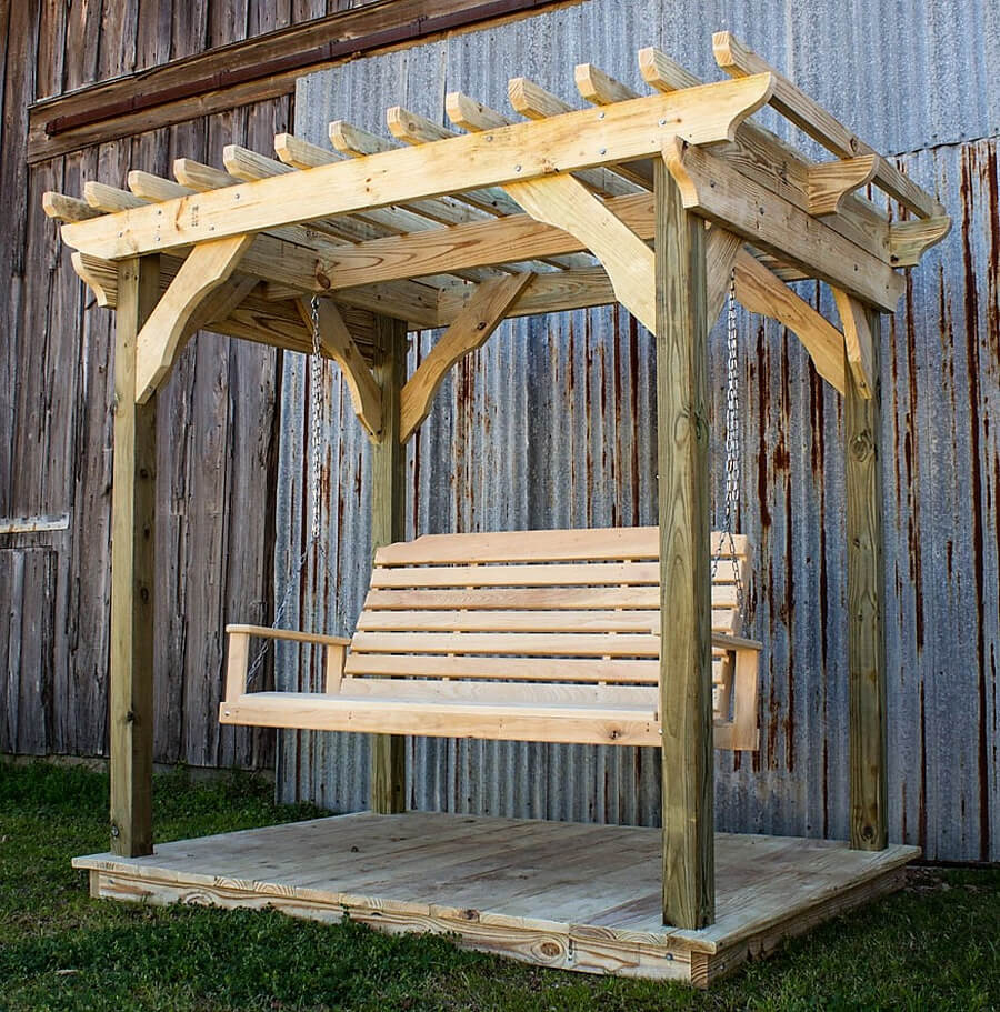 Swing Pergola on Little Deck