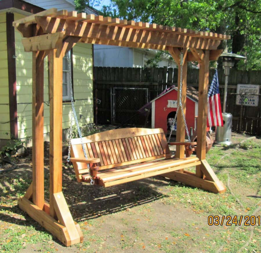 Wooden Swing Pergola