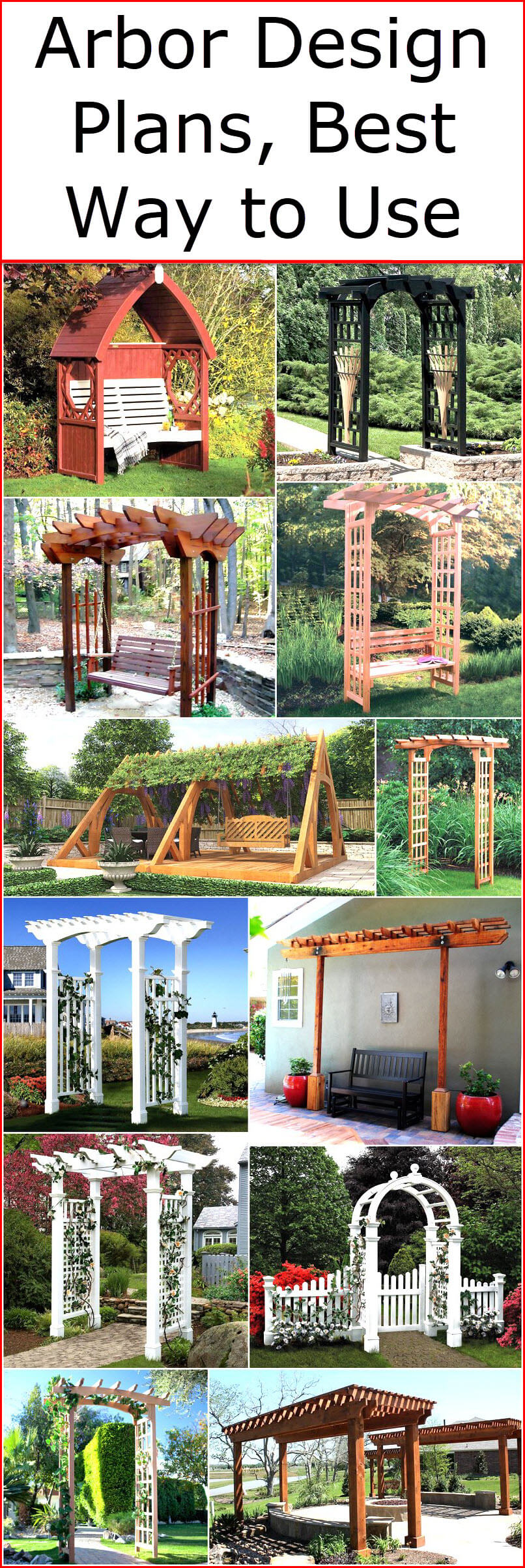 Arbor Design Plans Best Way to Use