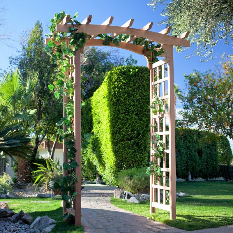 Steel Arch Arbor