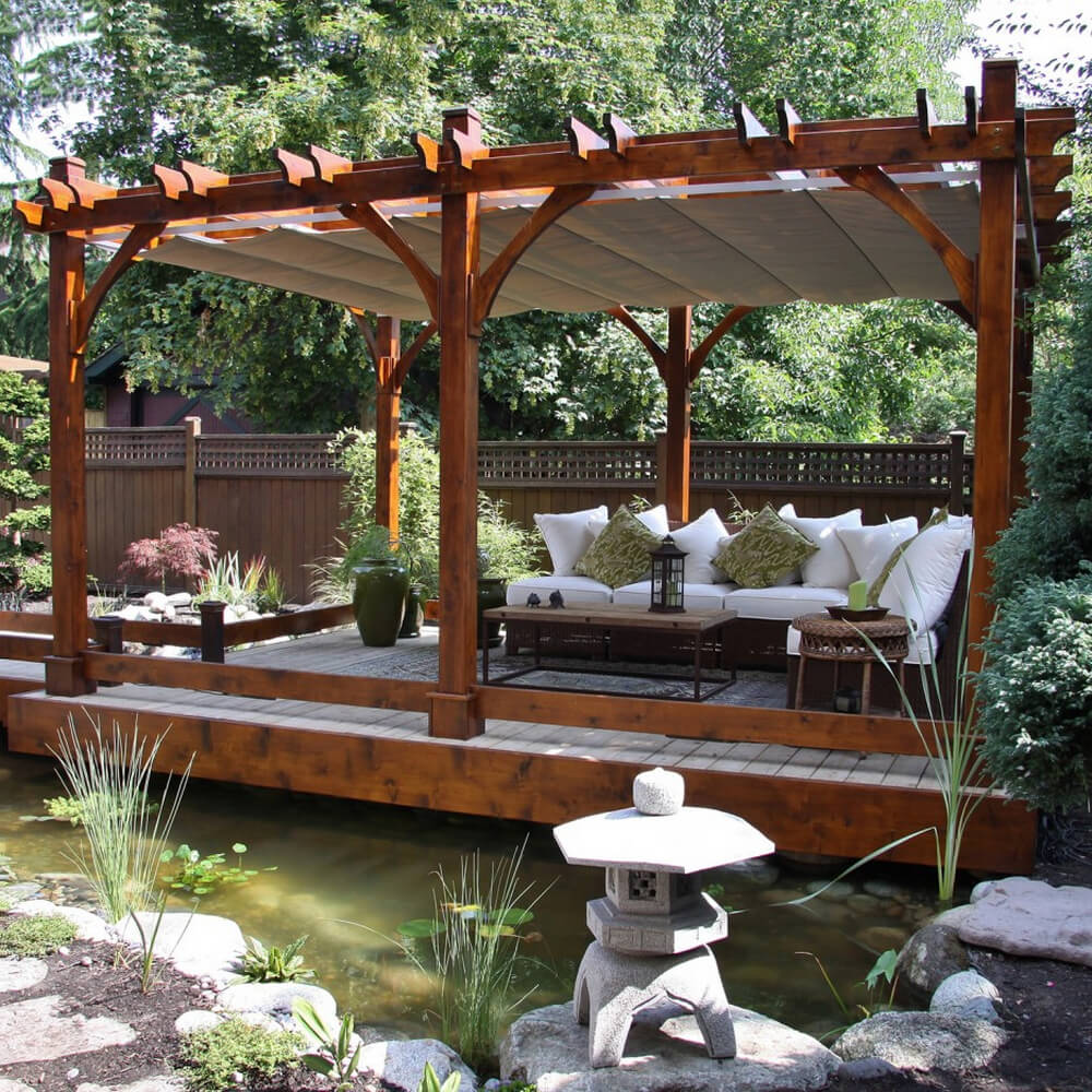 pergola furniture ideas 1
