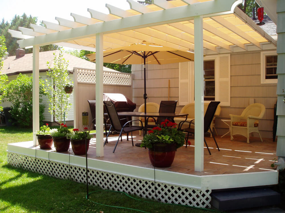 pergola furniture ideas 12