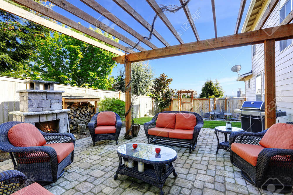 pergola furniture ideas 13