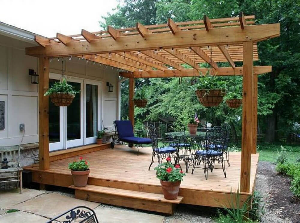 pergola furniture ideas 14