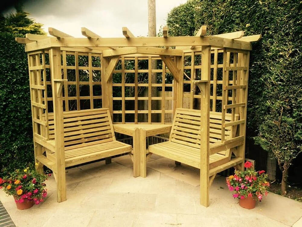 pergola furniture ideas 21