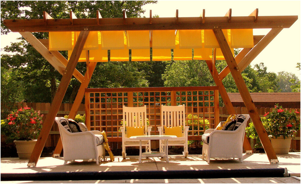 pergola furniture ideas 9