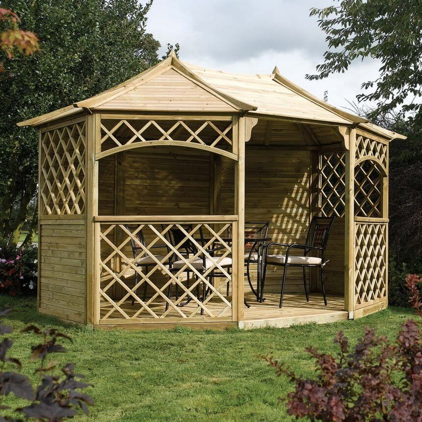 Gazebo Designed in Garden 1