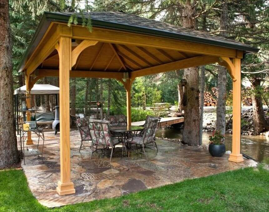 Gazebo Designed in Garden 10