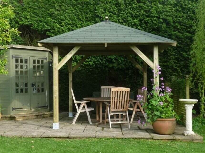 Gazebo Designed in Garden 3
