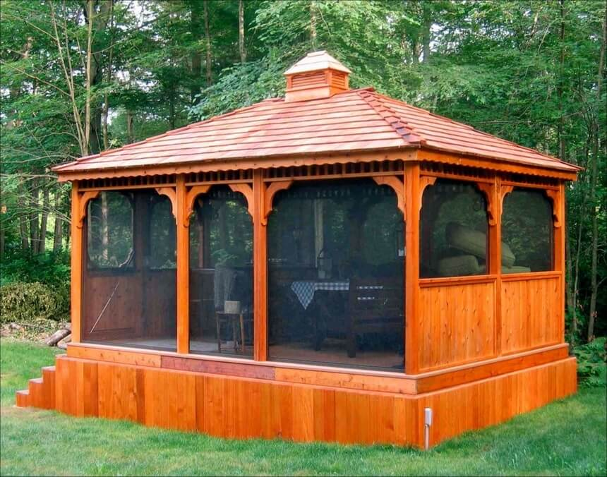 Gazebo Designed in Garden 4