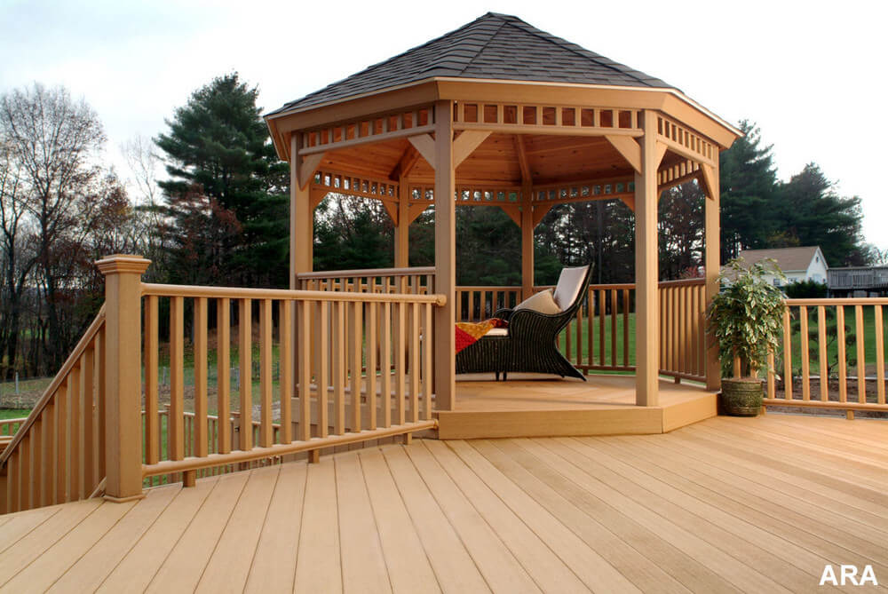 Decks with Gazebo Stunning Additional Structure in Lawn