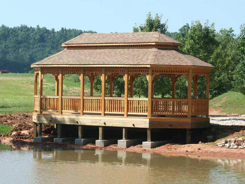 Lakeside Gazebo Design Ideas 1