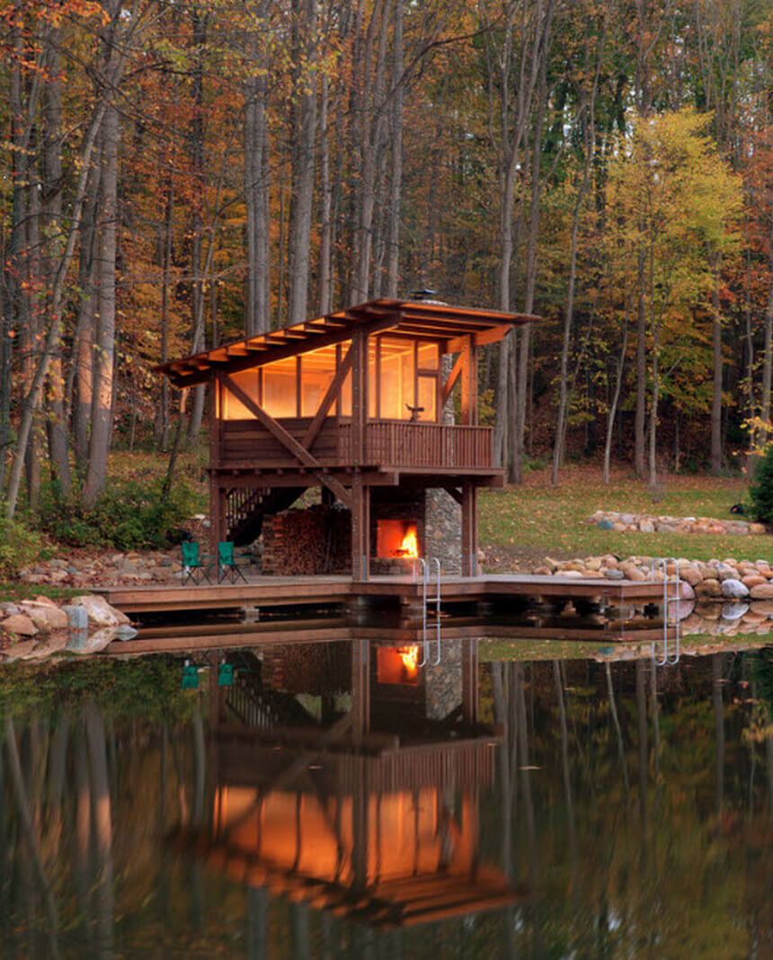 Lakeside Gazebo Design Ideas 12