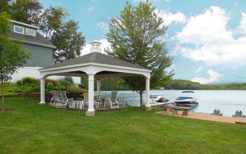 Lakeside Gazebo Design Ideas 14
